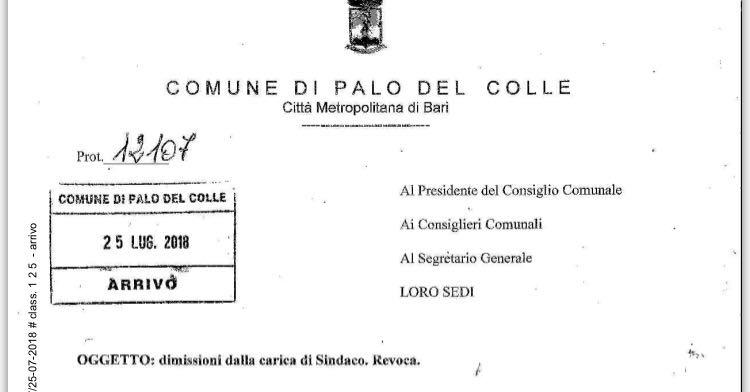 revoca-dimissioni-sindaco-palo-del-colle